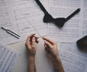 music, hands, and notes image