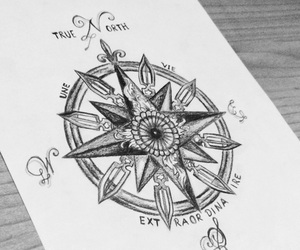 compass, drawing, and iranytu image