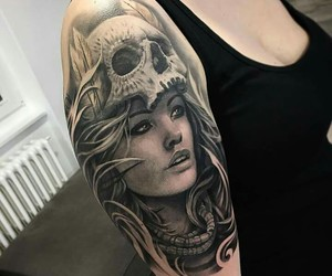 inked, tattoo, and ink image