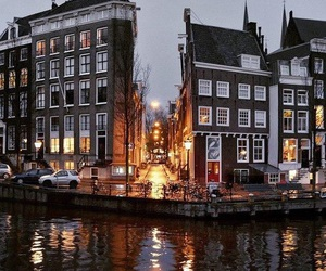 city, amsterdam, and autumn image