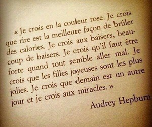 quote, audrey hepburn, and french image