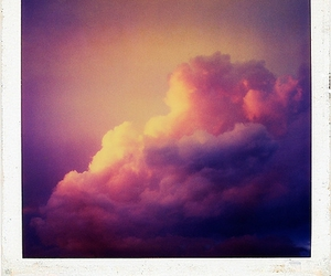 clouds, polaroid, and beautiful image