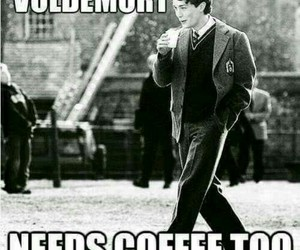 harry potter, voldemort, and coffee image
