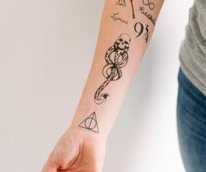 harry potter, cool, and tattoo image
