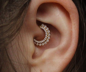 piercing, ear, and beauty image