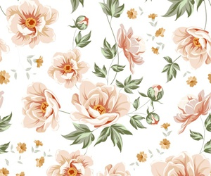 pattern, flowers, and background image