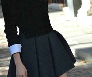 black, chemise, and girl image