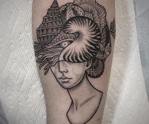 black, girl, and Tattoos image