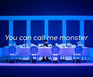 exo, Lyrics, and monster image