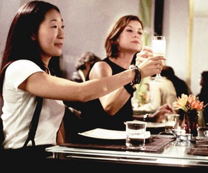cristina yang, sandra oh, and kate walsh image