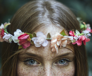 50mm, flowers, and portraiture image