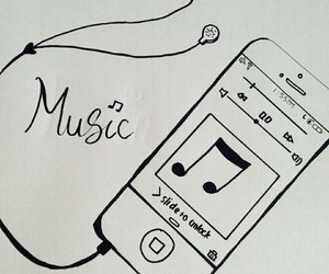 music and iphone image
