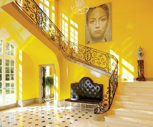 architecture, interior design, and yellow image