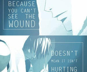 anime, hurt, and quote image