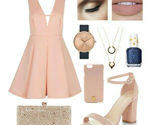 bag, heels, and makeup image