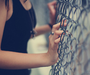 girl, photography, and fence image