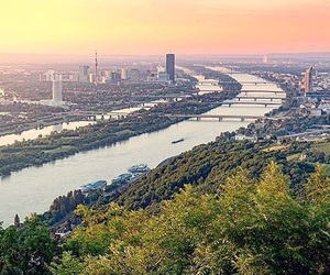 austria, sunset, and vienna image