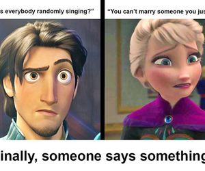disney, frozen, and funny image