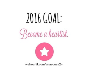 2016, goals, and heartist image