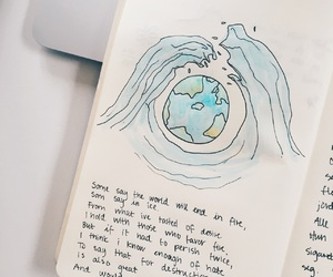 earth, fire and ice, and poem image