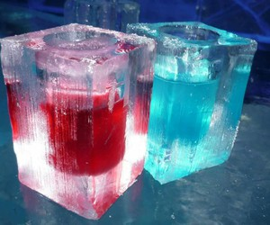 cold, ice, and ice cubes image