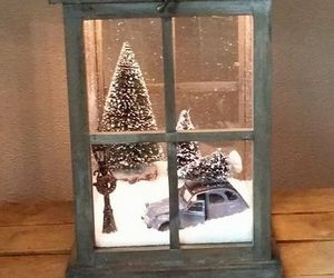 christmas, snow, and decor image