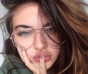 girl, glasses, and tumblr image