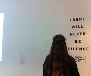 quotes, grunge, and silence image