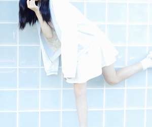 blue, pale, and girl image