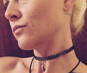 90s, choker, and tattoo necklace image