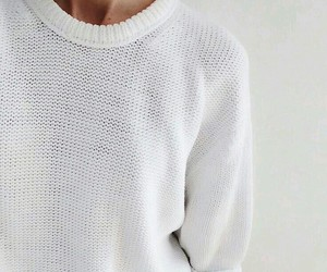 white, sweater, and clothes image
