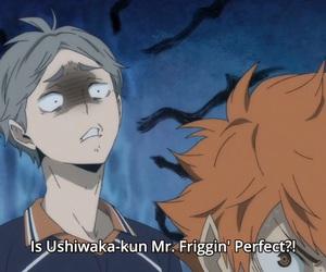 ushiwaka, haikyuu!!, and sugawara koushi image