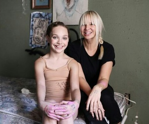 Sia, chandelier, and maddie image