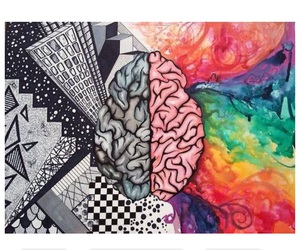 brain, colors, and art image