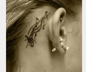 tattoo, music, and ear image