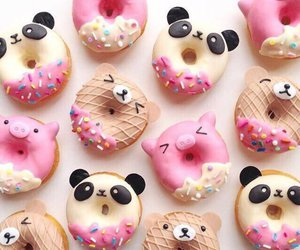 donuts, doughnut, and sweet image