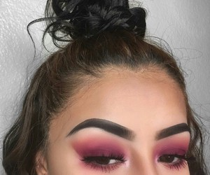 eyebrow, pink, and eyebrow goals image