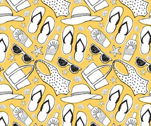 pattern, background, and summer image