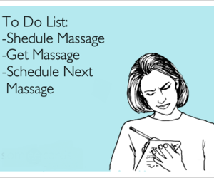 funny, massage, and schedule image