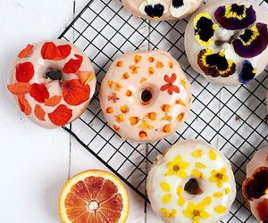 donuts, food, and flowers image