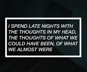 late night, sad, and thoughts image