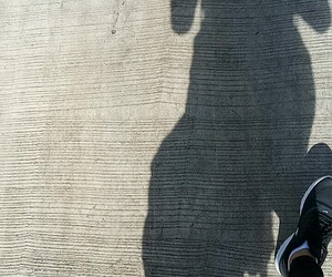 nike, shadow, and travel image