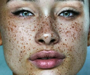 freckles, eyes, and beauty image
