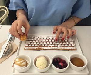 food, dessert, and ice cream image