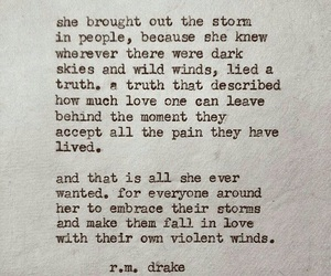 quote, storm, and words image