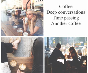 coffee, Collage, and quote image