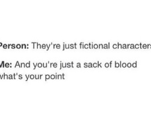 true, funny, and fictional characters image