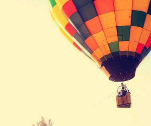 travel, airballoon, and people image
