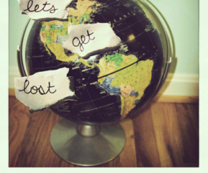 world, lost, and globe image