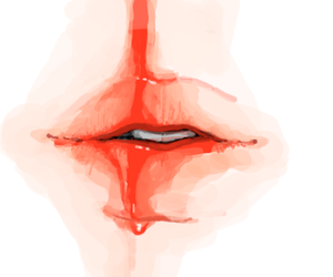 lips, blood, and red image